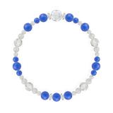 花かずら(6mm)青色ブルーメノウ・水晶(クォーツ)ブレスレット