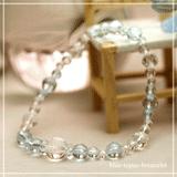花かずら(6mm)秘色色ブルートパーズ・水晶(クォーツ)ブレスレット