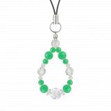 花かずら(6mm)若緑色クリソプレーズ・水晶(クォーツ)ストラップ