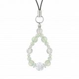 花かずら(6mm)白緑色グリーンアメジスト・水晶(クォーツ)ストラップ