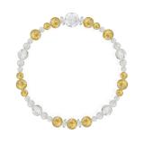 花かずら(6mm)黄金色ルチルクォーツ・水晶(クォーツ)ブレスレット