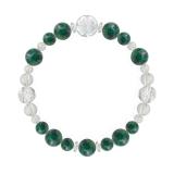 花かずら(8mm)緑青色アズロマラカイト・水晶(クォーツ)ブレスレット