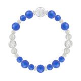 花かずら(8mm)青色ブルーメノウ・水晶(クォーツ)ブレスレット