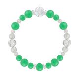 花かずら(8mm)若緑色クリソプレーズ・水晶(クォーツ)ブレスレット