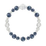 花かずら(8mm)群青色カイヤナイト・水晶(クォーツ)ブレスレット