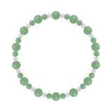 鳳凰(6mm)若竹色アベンチュリン・水晶(クォーツ)ブレスレット