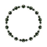 鳳凰(6mm)千歳緑色ブラッドストーン・水晶(クォーツ)ブレスレット