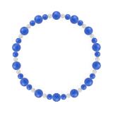 鳳凰(6mm)青色ブルーメノウ・水晶(クォーツ)ブレスレット