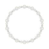 鳳凰(6mm)月白色ブルームーンストーン・水晶(クォーツ)ブレスレット