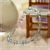鳳凰(6mm)秘色色ブルートパーズ・水晶(クォーツ)ブレスレット