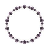 鳳凰(6mm)京紫色チャロアイト・水晶(クォーツ)ブレスレット