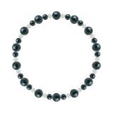 鳳凰(6mm)青藍色クリソコラ・水晶(クォーツ)ブレスレット