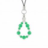 鳳凰(6mm)若緑色クリソプレーズ・水晶(クォーツ)ストラップ