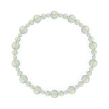 鳳凰(6mm)白緑色グリーンアメジスト・水晶(クォーツ)ブレスレット