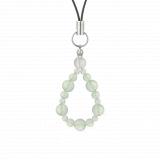 鳳凰(6mm)白緑色グリーンアメジスト・水晶(クォーツ)ストラップ