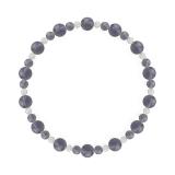 鳳凰(6mm)青褐色アイオライト・水晶(クォーツ)ブレスレット