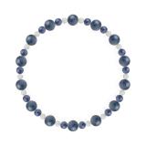 鳳凰(6mm)群青色カイヤナイト・水晶(クォーツ)ブレスレット
