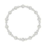 鳳凰(6mm)白露色水晶・クォーツブレスレット