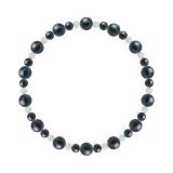 鳳凰(6mm)紺青色サファイア・水晶(クォーツ)ブレスレット