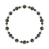 鳳凰(6mm)憲法色天眼石・水晶(クォーツ)ブレスレット