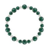 鳳凰(8mm)緑青色アズロマラカイト・水晶(クォーツ)ブレスレット