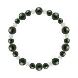 鳳凰(8mm)千歳緑色ブラッドストーン・水晶(クォーツ)ブレスレット