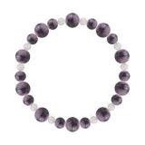 鳳凰(8mm)京紫色チャロアイト・水晶(クォーツ)ブレスレット