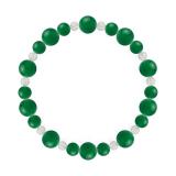鳳凰(8mm)緑色グリーンメノウ・水晶(クォーツ)ブレスレット