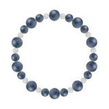 鳳凰(8mm)群青色カイヤナイト・水晶(クォーツ)ブレスレット