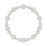 鳳凰(8mm)白露色水晶・クォーツブレスレット
