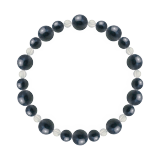 鳳凰(8mm)紺青色サファイア・水晶(クォーツ)ブレスレット