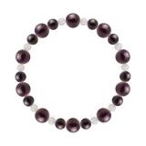 鳳凰(8mm)紫紺色スギライト・水晶(クォーツ)ブレスレット
