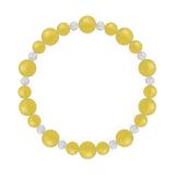 鳳凰(8mm)黄色イエローメノウ・水晶(クォーツ)ブレスレット